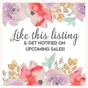Like this Listing to Follow my Closet!